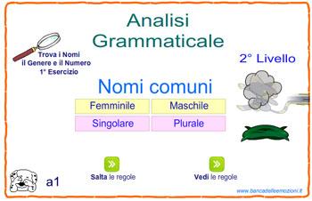 Analisi grammaticale i nomi il c ff dei lettori - Diversi analisi grammaticale ...